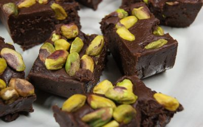 Chocolade fudge met pistache