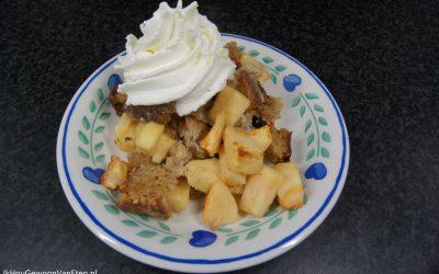 Broodpudding met appel