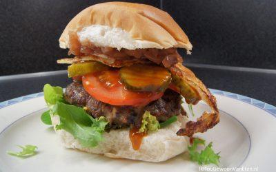 Zelfgemaakte hamburgers