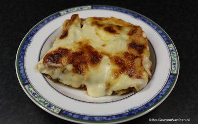Lasagne met vegetarisch gehakt