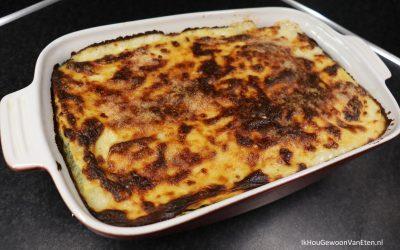 Spinazie-pesto lasagne