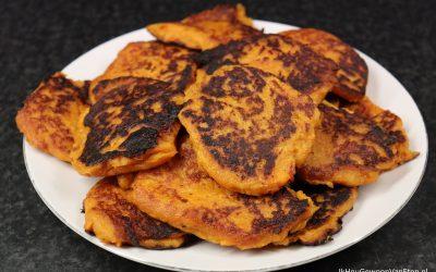 Zoete-aardappel pannenkoekjes