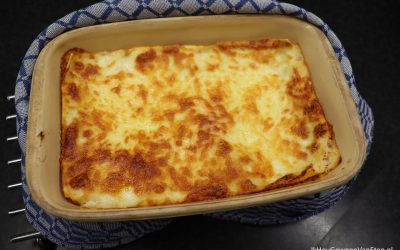 Vega lasagne met romige tomatensaus