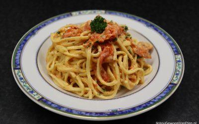 Spaghetti met brie en snoeptomaatjes